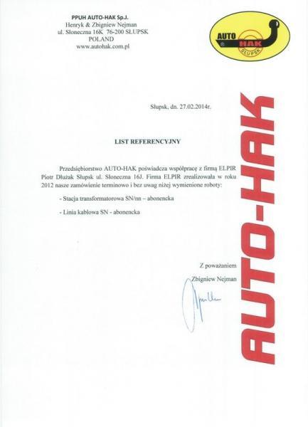 Referencje AUTO-HAK