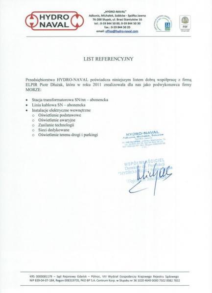Referencje HYDRO-NAVAL